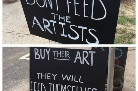 don't feed artists